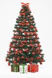 Christmastree met 3 stelt voor royalty-vrije illustratie