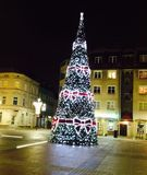 Christmastree, night, Christmas, city, decoration. Christmastree in the city Stock Image
