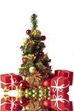 christmastree ornamenty śliczni mali Obrazy Stock