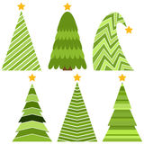 ChristmasTree-19. Set of Christmas trees. Isolated vector illustration for Merry Christmas and Happy New Year Stock Images