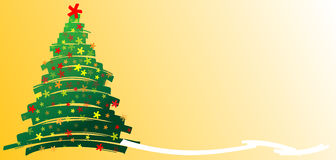 Christmastree stars tiré par la main illustration stock