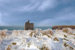 Christmasy view of ballybunion beach and cliffs Stock Photography