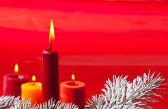 Christmes świeczka Zdjęcie Royalty Free