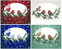 Christnas card set Royalty Free Stock Photos
