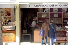 Christnas-Straßenmarkt in Sevilla Lizenzfreie Stockfotos