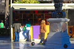 Christnas uliczny rynek w Seville 04 Fotografia Stock