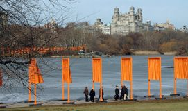 Christo's The Gates in New York City Stock Photography