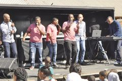 Christo`s from Uitenhage performing at the Celebrations of 123 years of dalestreet Congregational Church royalty free stock images