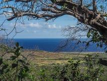 Christoffel国家公园库拉索岛景色 免版税库存图片
