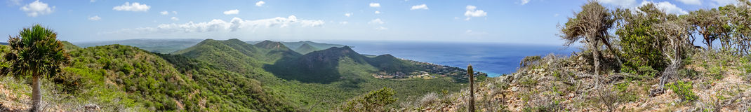 Christoffel National park  - panorama. Christoffel National park -Views around Curacao a small island in the Caribbean Royalty Free Stock Photos