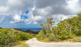 Christoffel National park road and views to the sea Royalty Free Stock Photography