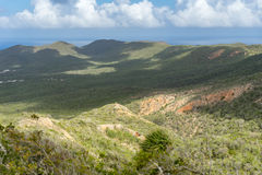 Christoffel National park views to the sea Royalty Free Stock Photography