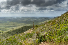 Christoffel National park views to the sea Royalty Free Stock Images