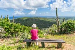 Christoffel nationalpark - Curacao sikter Arkivfoto