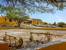 Christoffel park. Land house and old machinery - Curacao a Caribbean Island Stock Photos