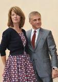 Christoph Waltz y Judith Holste Foto de archivo