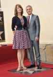 Christoph Waltz y Judith Holste Fotografía de archivo libre de regalías