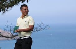 Christophe Brazillier au défi 2013 de golf de Pleneuf Val Andre Images libres de droits