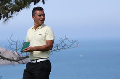 Christophe Brazillier bij de het golfuitdaging 2013 van Pleneuf Val Andre Royalty-vrije Stock Afbeeldingen