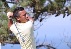 Christophe Brazillier bij de het golfuitdaging 2013 van Pleneuf Val Andre Royalty-vrije Stock Foto's