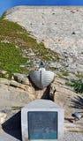 Christophe Colomb Memorial na cidade de Calvi da ilha de Córsega Fotografia de Stock Royalty Free