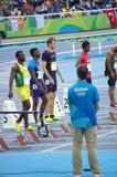 Christophe Lemaitre, een Franse sprinter Royalty-vrije Stock Afbeeldingen