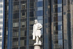 Christopher Columbus. Statue in Columbus Circle New York royalty free stock photos
