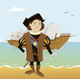 Christopher Columbus vektor illustrationer