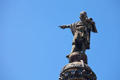 Christopher Columbus, Barcelone Images stock