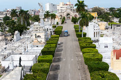 Christopher Columbus cemetery Havana Cuba. Christopher Columbus cemetery or Colon cemetery. Contains tombs of great architectural values and great Cuban stock image
