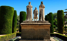 Christopher Columbus and Christian Kings, Gardens of Alcazar, Co Royalty Free Stock Image