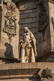 Christopher Columbus Column, Barcelona Stock Photos
