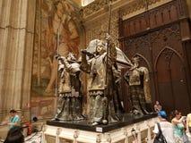 Christopher Columbus gravvalv royaltyfri bild
