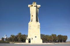 Christopher Columbus Huge Statue stockbild