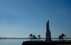 Christopher Columbus Huge Statue lizenzfreie stockfotos