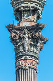 Christopher Columbus monument in Barcelona. Stock Image