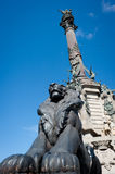 Christopher Columbus' monument in Barcelona, Spain Stock Image