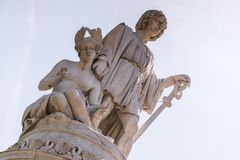 Christopher Columbus Monument em Genoa, Itália, Europa imagem de stock royalty free