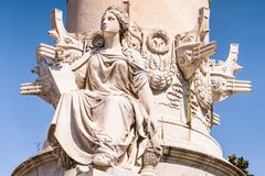 The Christopher Columbus Monument in Genoa details Italy, Europe stock image