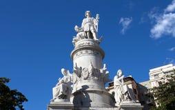 Christopher Columbus-monument in Genua, Itali? royalty-vrije stock foto's