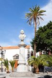 Christopher Columbus Monument. A monument to explorer Christopher Columbus located in Alameda de Colon, a small square in the city of Las Palmas De Gran Canaria Royalty Free Stock Photos