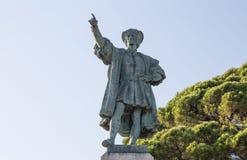 Christopher Columbus-monument in Rapallo, de provincie van Genua, Italië stock afbeelding