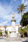 Christopher Columbus Monument. A monument to explorer Christopher Columbus located in Alameda de Colon, a small square in the city of Las Palmas De Gran Canaria Stock Images