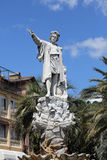 Christopher Columbus. Monument to Christopher Columbus by Odoardo Tabacchi, 1892, Santa Margherita Ligure, Liguria, Italy stock photo