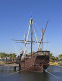 Christopher Columbus Ships. One of the the three ships that Christopher Columbus goberned to discover America stock photography