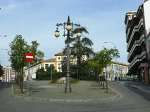 Christopher Columbus square in Cordoba Royalty Free Stock Photos