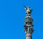 Christopher Columbus statue in Barcelona Stock Image