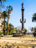 Christopher Columbus Statue in Barcelona Royalty Free Stock Photo