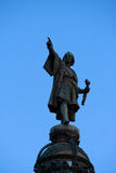 Christopher Columbus Statue in Barcelona, Spain Stock Images