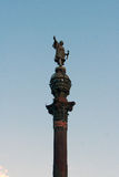 Christopher Columbus Statue in Barcelona, Spain Royalty Free Stock Photo